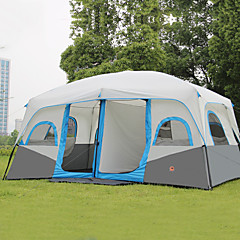 cheap Tents, Canopies & Shelters-Shamocamel® 8 person Tent Double Camping Tent Two Rooms Outdoor Family Camping Tents Keep Warm Waterproof Portable Rain-Proof Breathable