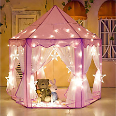 cheap Outdoor Fun & Sports-Girl Princess Pink Castle Tents Play Tent & Tunnel Fabrics Kid's Gift 1pcs