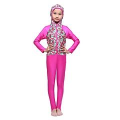 tanie Odzież dla chłopców-Dzieci Dla dziewczynek Podstawowy Plaża Geometric Shape / Patchwork Poliester / Spandeks Kąpielówki Fuksja