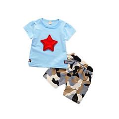 billige Tøjsæt til drenge-Baby Drenge Geometrisk Trykt mønster Kortærmet Tøjsæt