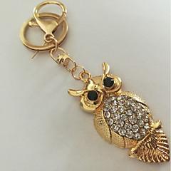 baratos Chaveiros-Coruja Chaveiro Dourado Imitações de Diamante, Liga Animais, Fashion Para Diário