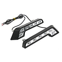 cheap Daytime Running Lights-2 * Super Bright White 8 LED DRL Car Daytime Running Driving Light