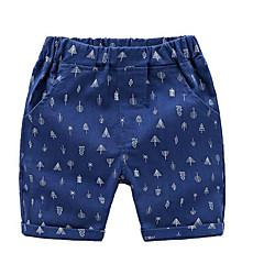 billige Gutteklær-print jente daglige polyester sommer høstkjole aktiv kongeblå khaki hvit blå