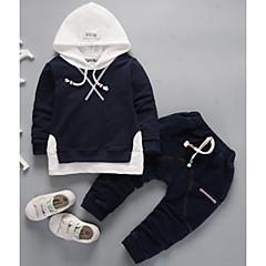 tanie Odzież dla chłopców-Brzdąc Dla chłopców Sport Jendolity kolor Długi rękaw Bawełna Komplet odzieży
