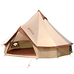 cheap Tents, Canopies & Shelters->8 persons Tent Bell Tent Glamping Tent Single Camping Tent One Room Family Camping Tents Windproof Rain-Proof Professional for Camping / Hiking