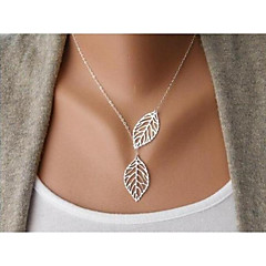 cheap Necklaces-Choker Necklace - Leaf Simple, Cartoon, Fashion Gold, Silver 44 cm Necklace For Wedding, Gift