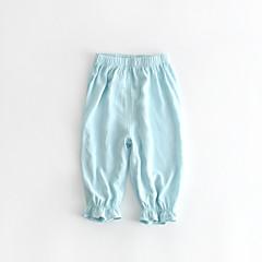 billige Bukser og leggings til piger-Baby Pige Vintage Ensfarvet Flettet Uden ærmer Bomuld / Hør / Bambus Fiber Bukser