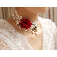 お買い得  チョーカーネックレス-女性用 フラワー チョーカー  -  Elegant 甘い レインボー 38cm ネックレス 用途 結婚式 パーティー