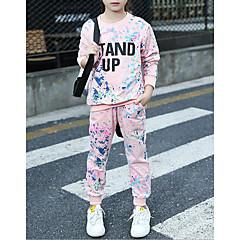 billige Tøjsæt til piger-Børn Pige Anden Bomuld / Spandex Tøjsæt Lyserød