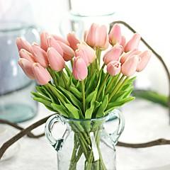 billige Kunstige blomster-Kunstige blomster 10 Gren Rustikk Fest Tulipaner Evige blomster Bordblomst