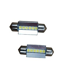 billige Interiørlamper til bil-2pcs 36mm Bil Elpærer 6W 600lm 6 LED interiør Lights For Audi / Honda / Hyundai ML400 / GLE320 / GLA220 2018 / 2017 / 2016