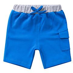 billige Babyunderdele-Baby Pige Basale Ensfarvet Polyester Shorts Blå