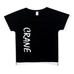 tanie Odzież dla chłopców-Dzieci / Brzdąc Dla chłopców Podstawowy Geometryczny Nadruk Krótki rękaw Bawełna T-shirt