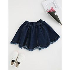 お買い得  女児 スカート-女の子 日常 ソリッド 特殊皮革タイプ スカート 春 秋 セクシー ブルー
