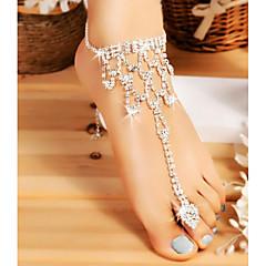 baratos Bijoux de Corps-Tornezeleira / Anel de dedo do pé Caído Simples, Fashion Mulheres Prata Bijuteria de Corpo Para Casamento / Para Noite