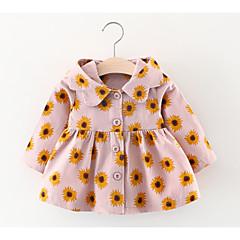billige Overtøj til babyer-Baby Pige Blomstret Langærmet Trenchcoat