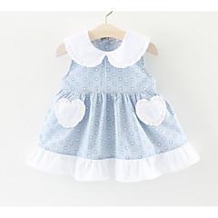 billige Babytøj-Baby Pige Galakse / Patchwork Uden ærmer Kjole