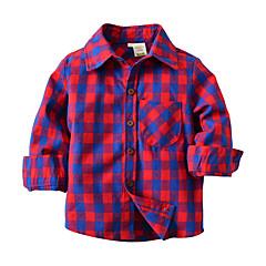 baratos Roupas de Meninos-Infantil / Bébé Para Meninos Estampa Colorida Manga Longa Camisa
