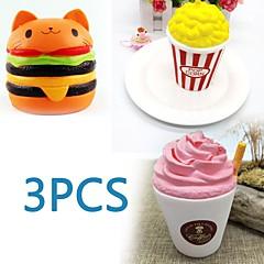billiga Leksaker och spel-MINGYUAN Stresslindrande leksaker popcorn / Hamburgare / Kreativ Föräldra-Barninteraktion / Dekompressionsleksaker / Vackert 3pcs Alla