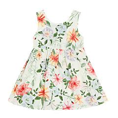billige Babykjoler-Baby Pige Blomstret Uden ærmer Kjole