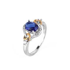 billige Motering-Syntetisk Diamant Geometrisk Forlovelsesring - Kobber Ball Ferie, Europeisk, Oversized 6 / 7 / 8 / 9 Blå Til Fest Gave Aftenselskap
