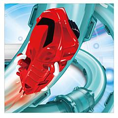 billiga Drönare och radiostyrda enheter-Radiostyrd bil YIJIATOYS Remote control pipe rail cars 2 Kanal 2.4G Hoppande natt Stuntbil Truggy Bilar 1:80 Borstlös elektrisk 1km/h KM