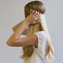 お買い得  人毛エクステンション-Flip In 人間の髪の拡張機能 クラシック 人毛 女性用 日常