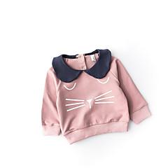 billige Babyoverdele-Baby Pige Aktiv Trykt mønster Langærmet T-shirt