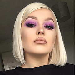 cheap Wigs & Hair Pieces-Synthetic Lace Front Wig Women's Straight Blonde Bob 150% Density Synthetic Hair Heat Resistant / Fashion / African American Wig Blonde Wig Short Lace Front Blonde / Purple / Yes
