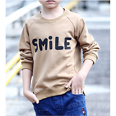 billige Hættetrøjer og sweatshirts til drenge-Børn Drenge Ensfarvet Trykt mønster Langærmet Hættetrøje og sweatshirt