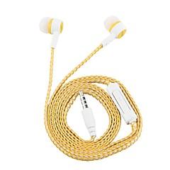 billiga Headsets och hörlurar-Factory OEM KY-29 I öra Kabel Hörlurar Hörlurar Metallskal Mobiltelefon Hörlur Stereo / mikrofon headset