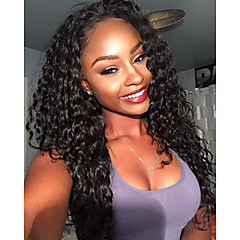 cheap Wigs & Hair Pieces-Remy Human Hair Lace Front Wig Brazilian Hair Curly Wig 150% Density with Baby Hair 100% Virgin Women's Long Human Hair Lace Wig beikashang