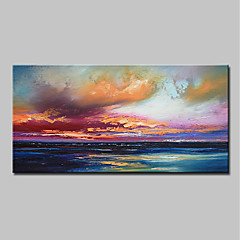 cheap Wall Art-Oil Painting Hand Painted - Abstract / Landscape Modern Canvas