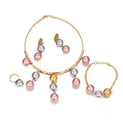 baratos Conjuntos de Bijuteria-Mulheres Conjunto de jóias - Chapeado Dourado Boêmio, Fashion, Boho Incluir Dourado Para Festa / Presente