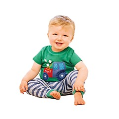 billige Overdele til drenge-Børn / Baby Drenge Stribet Kortærmet T-shirt