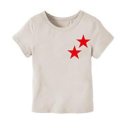 billige Overdele til drenge-Baby Drenge Trykt mønster Kortærmet T-shirt