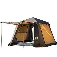 billige Telt og ly-CHANODUG® 5 Skjermtelt Dobbelt Lagdelt Automatisk Telt med flere rom camping Tent Utendørs Regn-sikker, Vindtett til Fisking / Camping / Vandring / Grotte Udforskning >3000 mm rustfritt, Oxford