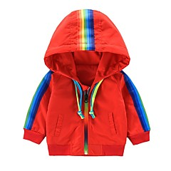 billige Overtøj til babyer-Baby Pige Regnbue Langærmet Jakkesæt og blazer