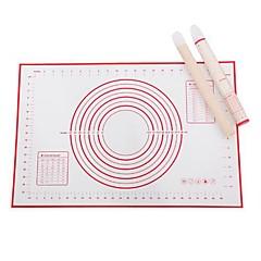 billige Bakeredskap-Bakeware verktøy Silikongel Multifunksjonell Kreativ Kjøkken Gadget Brød Baking Mats & Liners 1pc