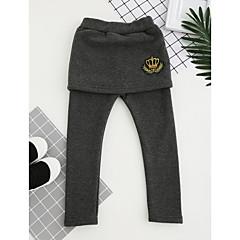 tanie Odzież dla dziewczynek-Dzieci Dla dziewczynek Wzornictwo chińskie Haft Bawełna Spodnie