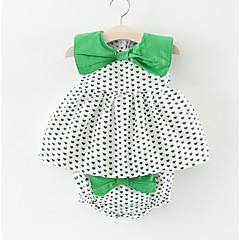 billige Babykjoler-Baby Pige Prikker Geometrisk Uden ærmer Kjole