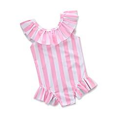 billige Badetøj til piger-Børn / Baby / Nyfødt Pige Stribet Uden ærmer Badetøj