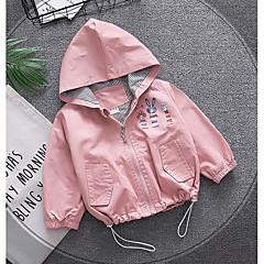 billige Babytøj-Baby Unisex Basale Trykt mønster Langærmet Bomuld Jakke og frakke