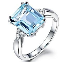 ieftine Verighete-Pentru femei Sintetic Aquamarine / Zirconiu Cubic Lung Band Ring - Vintage, Elegant 6 / 7 / 8 Albastru Deschis Pentru Nuntă / Logodnă / Ceremonie