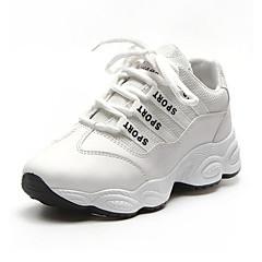 baratos Tênis de Corrida-Mulheres Tênis / Sapatos Casuais Borracha Corrida Leve, Respirável Micofibra Sintética PU / Arrastão Branco / Preto / Rosa claro