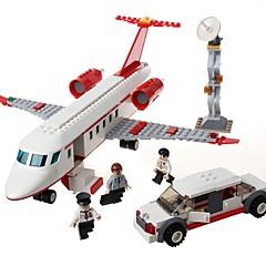 billiga Leksaker och spel-GUDI Byggklossar 334 pcs Flygplan Stress och ångest Relief Föräldra-Barninteraktion Flygplan Pojkar Flickor Leksaker Present