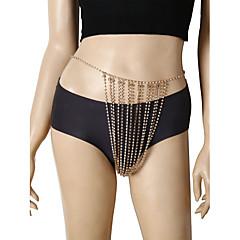 tanie Piercing-Frędzel Łańcuszek na brzuch Elegancki, Luksusowy, Bikini Damskie Złoty / Srebrny Biżuteria Na Maskarada / Bikini