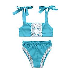 billige Sett med babyklær-Baby Pige Trykt mønster Uden ærmer Tøjsæt