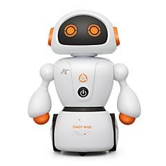 baratos -RC Robot Luzes LED Revestimento em Plástico Cantando / Caixa de Som / Multifuncional Não aplicável