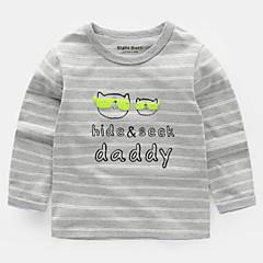 billige Babyoverdele-Baby Unisex Trykt mønster Langærmet Bluse